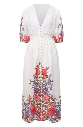 Женское льняное платье ZIMMERMANN разноцветного цвета, арт. 9695DP0P | Фото 1