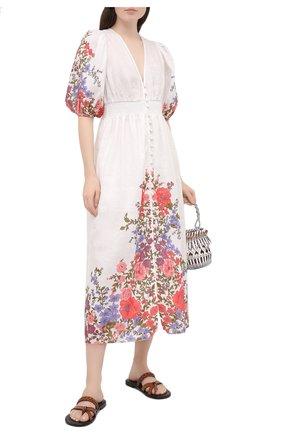 Женское льняное платье ZIMMERMANN разноцветного цвета, арт. 9695DP0P | Фото 2