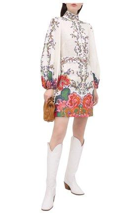 Женское льняное платье ZIMMERMANN белого цвета, арт. 9718DAND | Фото 2