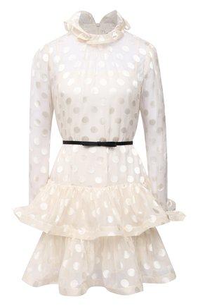 Женское платье из шелка и вискозы ZIMMERMANN белого цвета, арт. 9763DAND | Фото 1