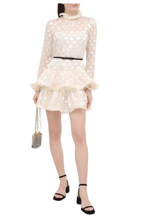 Женское платье из шелка и вискозы ZIMMERMANN белого цвета, арт. 9763DAND | Фото 2