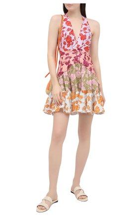 Женское льняное платье ZIMMERMANN разноцветного цвета, арт. 9770DAND | Фото 2