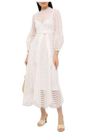 Женское платье ZIMMERMANN белого цвета, арт. 9836DP0P | Фото 2