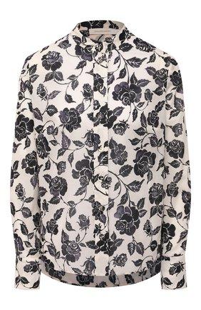 Женская хлопковая рубашка ZIMMERMANN черно-белого цвета, арт. 9857TAND | Фото 1