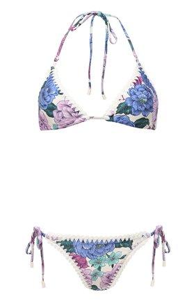 Женский раздельный купальник ZIMMERMANN сиреневого цвета, арт. 9863WP0P | Фото 1
