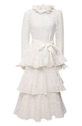 Женское хлопковое платье ZIMMERMANN белого цвета, арт. 9864DAND | Фото 1