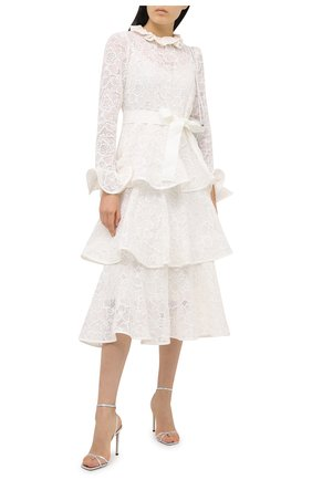 Женское хлопковое платье ZIMMERMANN белого цвета, арт. 9864DAND | Фото 2