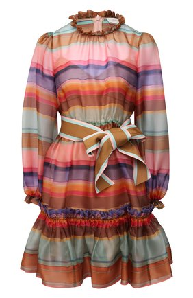 Женское шелковое платье ZIMMERMANN разноцветного цвета, арт. 9872DAND | Фото 1