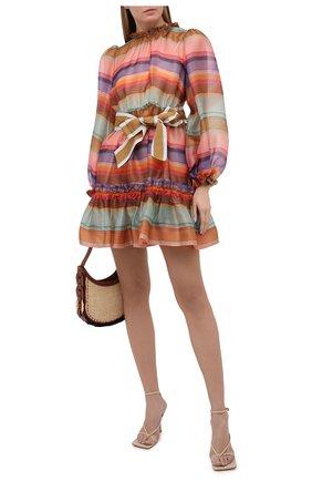 Женское шелковое платье ZIMMERMANN разноцветного цвета, арт. 9872DAND | Фото 2