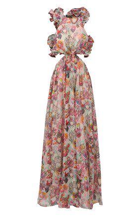 Женское платье из хлопка и шелка ZIMMERMANN разноцветного цвета, арт. 9895DAND | Фото 1