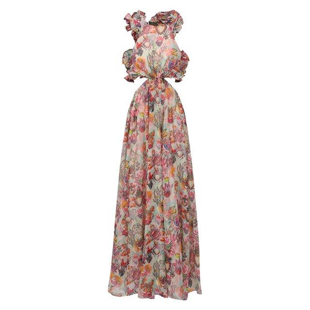 Платье из хлопка и шелка Zimmermann