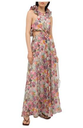 Женское платье из хлопка и шелка ZIMMERMANN разноцветного цвета, арт. 9895DAND | Фото 2