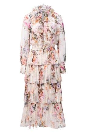 Женское шелковое платье ZIMMERMANN разноцветного цвета, арт. 9902DBRG | Фото 1