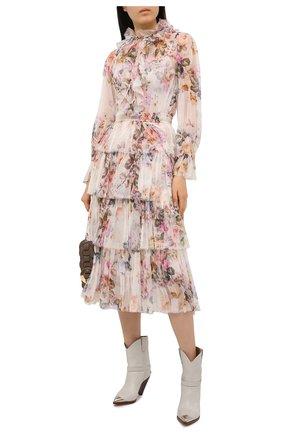 Женское шелковое платье ZIMMERMANN разноцветного цвета, арт. 9902DBRG | Фото 2