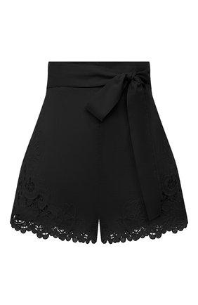 Женские хлопковые шорты ZIMMERMANN черного цвета, арт. 9958ABRG | Фото 1