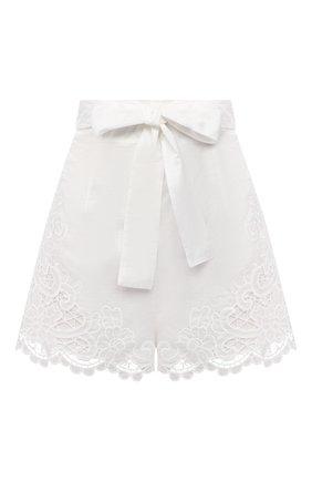 Женские хлопковые шорты ZIMMERMANN белого цвета, арт. 9958ALLU | Фото 1
