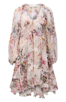 Женское шелковое платье ZIMMERMANN разноцветного цвета, арт. 9977DBRG | Фото 1