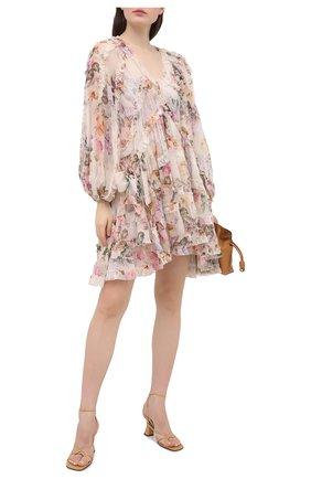 Женское шелковое платье ZIMMERMANN разноцветного цвета, арт. 9977DBRG | Фото 2