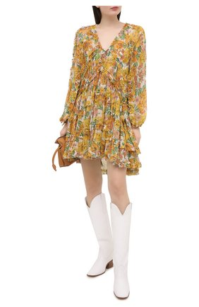 Женское шелковое платье ZIMMERMANN желтого цвета, арт. 9977DP0P | Фото 2