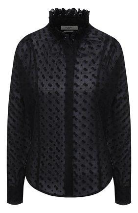 Женская хлопковая блузка ISABEL MARANT ETOILE черного цвета, арт. HT2039-21P032E/TERZALI | Фото 1