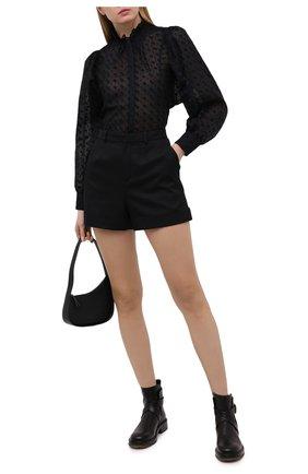 Женская хлопковая блузка ISABEL MARANT ETOILE черного цвета, арт. HT2039-21P032E/TERZALI | Фото 2