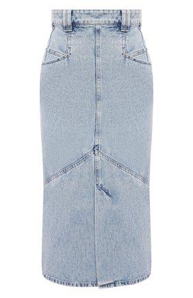 Женская джинсовая юбка ISABEL MARANT голубого цвета, арт. JU1274-21P014I/P0MAN0 | Фото 1