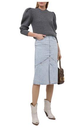 Женская джинсовая юбка ISABEL MARANT голубого цвета, арт. JU1274-21P014I/P0MAN0 | Фото 2