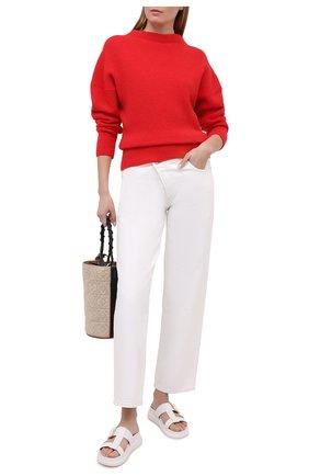 Женский шерстяной свитер ISABEL MARANT ETOILE красного цвета, арт. PU1525-21P057E/HALDEN | Фото 2