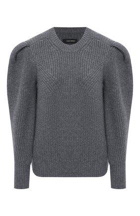 Женский шерстяной свитер ISABEL MARANT серого цвета, арт. PU1547-21P029I/R0BIN   Фото 1