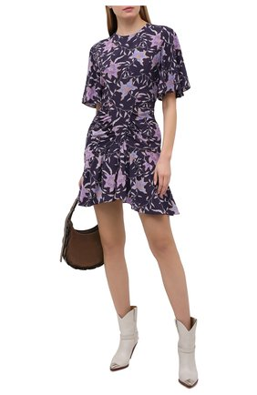 Женское платье из вискозы ISABEL MARANT ETOILE фиолетового цвета, арт. R01861-21P028E/0SIAS | Фото 2