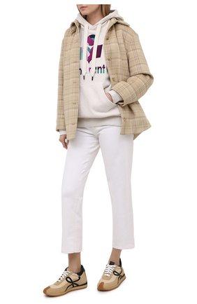 Женский хлопковое худи ISABEL MARANT ETOILE кремвого цвета, арт. SW0031-21P039E/MANSEL | Фото 2