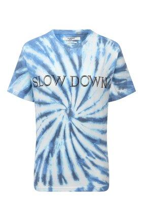 Женская хлопковая футболка ISABEL MARANT ETOILE синего цвета, арт. TS0406-21P044E/ZEWEL | Фото 1
