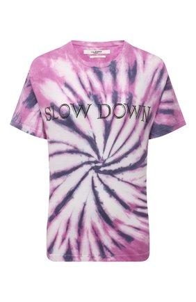 Женская хлопковая футболка ISABEL MARANT ETOILE фиолетового цвета, арт. TS0406-21P044E/ZEWEL | Фото 1