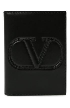 Женские кожаная обложка для паспорта valentino garavani VALENTINO черного цвета, арт. VW2P0V24/QEL | Фото 1