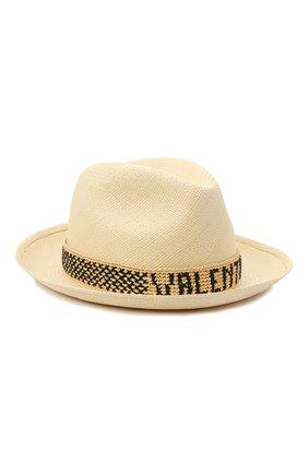 Женская соломенная шляпа valentino x borsalino VALENTINO бежевого цвета, арт. VW2HAA57/WDI | Фото 1
