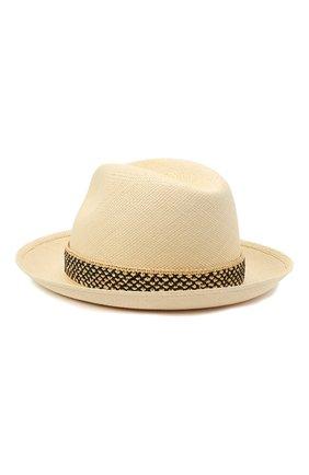 Женская соломенная шляпа valentino x borsalino VALENTINO бежевого цвета, арт. VW2HAA57/WDI | Фото 2