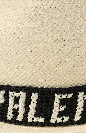 Женская соломенная шляпа valentino x borsalino VALENTINO черно-белого цвета, арт. VW2HAA57/WDI | Фото 3 (Материал: Растительное волокно)