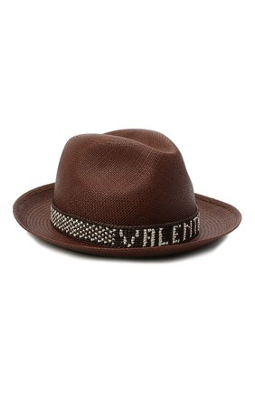 Женская соломенная шляпа valentino x borsalino VALENTINO коричневого цвета, арт. VW2HAA57/WDI | Фото 1