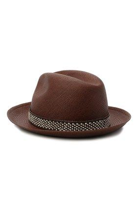 Женская соломенная шляпа valentino x borsalino VALENTINO коричневого цвета, арт. VW2HAA57/WDI | Фото 2