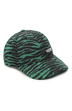Женская бейсболка KENZO зеленого цвета, арт. FB55AC901F30 | Фото 1