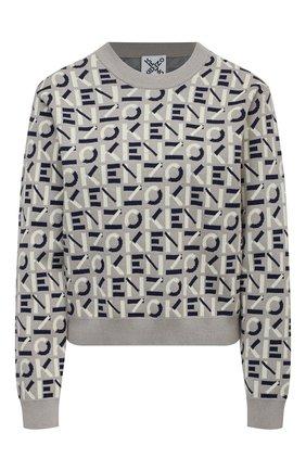 Женский хлопковый пуловер kenzo sport KENZO серого цвета, арт. FB52PU5323SC | Фото 1