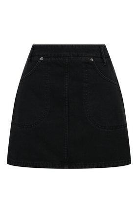 Женская джинсовая юбка KENZO черного цвета, арт. FB52DJ2596EB | Фото 1