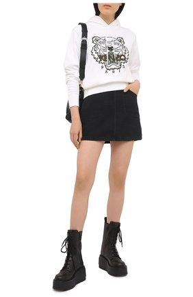 Женская джинсовая юбка KENZO черного цвета, арт. FB52DJ2596EB | Фото 2