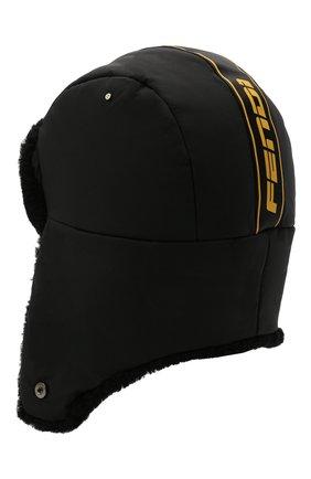 Женская шапка FENDI черного цвета, арт. FAC073 AEQS   Фото 2
