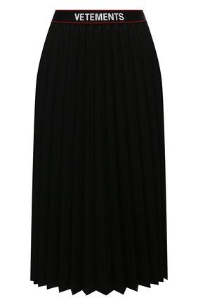 Женская юбка VETEMENTS черного цвета, арт. WE51SK400B 1210/BLACK | Фото 1