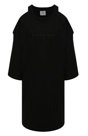 Женское хлопковое платье VETEMENTS черного цвета, арт. WE51DR845B 1610/BLACK | Фото 1