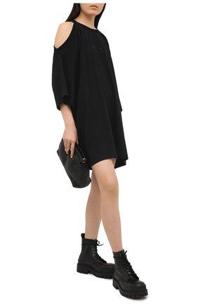Женское хлопковое платье VETEMENTS черного цвета, арт. WE51DR845B 1610/BLACK | Фото 2