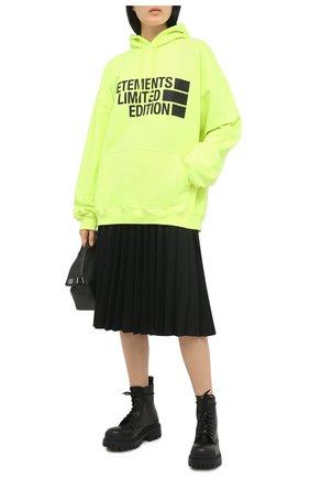 Женский хлопковое худи VETEMENTS желтого цвета, арт. UE51TR820Y 1604/W | Фото 2