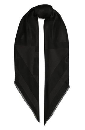 Женская шаль GIVENCHY черного цвета, арт. GW1414/J4235   Фото 1