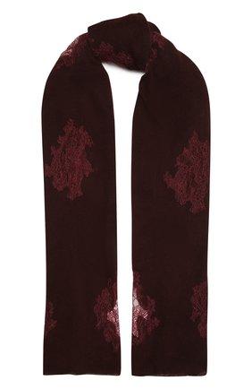Женская кашемировая шаль VINTAGE SHADES бордового цвета, арт. 14090A   Фото 1